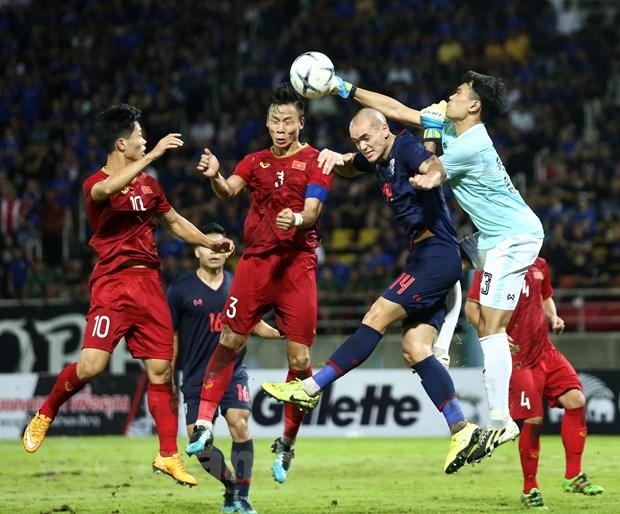 Tuyển Thái Lan và Việt Nam cống hiến trận đấu hấp dẫn với nhiều cơ hội nguy hiểm được chia đều cho hai đội dù tỷ số chung cuộc chỉ là 0-0. (Ảnh: Nguyên An)