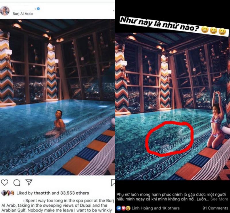 Chi tiết dòng nước ở ảnh của vợ 2 Minh Nhựa làm nhiều người nghi ngờ cô đã xóa hotgirl 'trời tây' khỏi ảnh