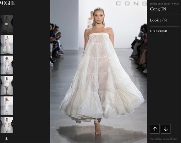 Vogue, Harper Bazaar Mỹ đồng loạt đưa tin về show diễn của NTK Công Trí 0