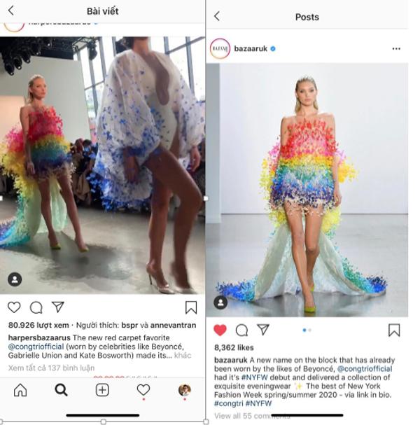 Vogue, Harper Bazaar Mỹ đồng loạt đưa tin về show diễn của NTK Công Trí 5