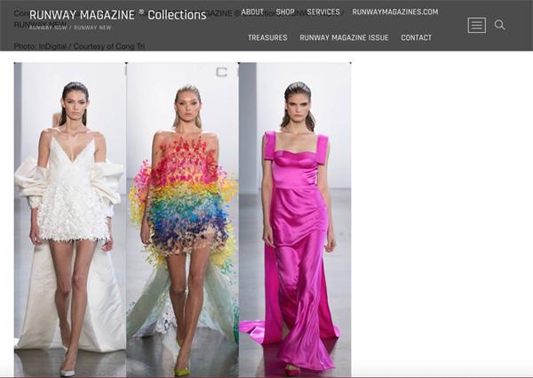 Vogue, Harper Bazaar Mỹ đồng loạt đưa tin về show diễn của NTK Công Trí 4