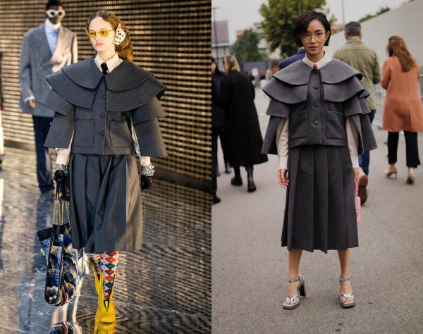 Trang phục ấn tượng của Châu Bùi thuộc BST Thu Đông 2019 của Gucci.