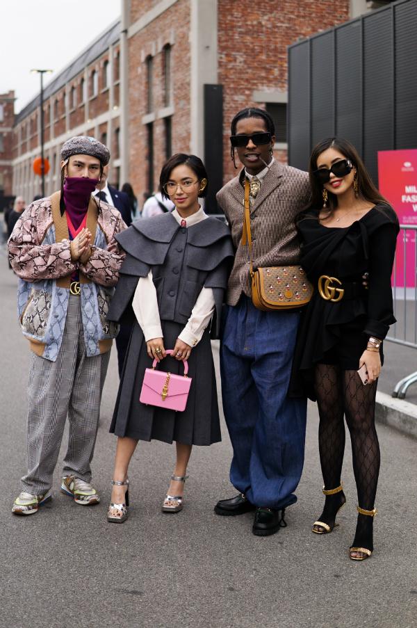 Châu Bùi - Decao thả dáng bên rapper người Mỹ nổi tiếng AsapRocky và Tiên Nguyễn (con gái diễn viên Thủy Tiên và doanh nhân Johnathan Hạnh Nguyễn).