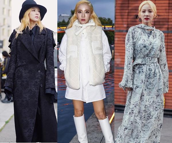 Dara liên tục biến hóa phong cách khi tham sự các show thời trang thuộc khuôn khổTuần lễ thời trang Xuân Hè 2020.