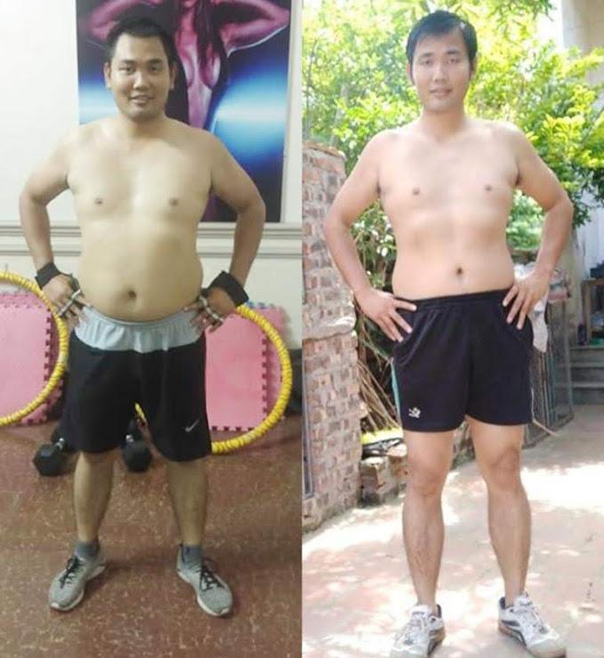 Anh Tạ Văn Thành trước và sau khi giảm cân