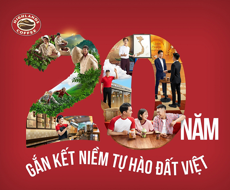 Sự thành công của Highlands Coffee trong mỗi bước đi trên hành trình 20 năm qua đều in đậm dấu ấn của sự cổ vũ, gắn kết chặt chẽ từ các đối tác, đội ngũ nhân viên cho đến mỗi khách hàng