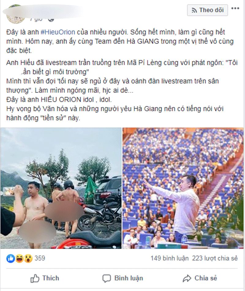 'Hy vọng bộ Văn hóa và những người yêu Hà Giang nên có tiếng nói trước hành động 'tiền sử' này.