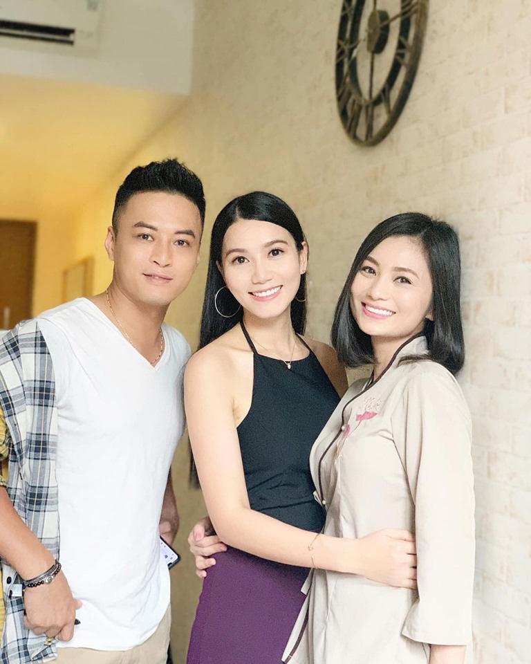 Hình ảnh hậu trường phim tiết lộ nhân vật Ngân do nữ diễn viên Lương Giang đảm nhiệm