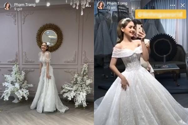 Phạm Trang lung linh trong bộ váy cô dâu.