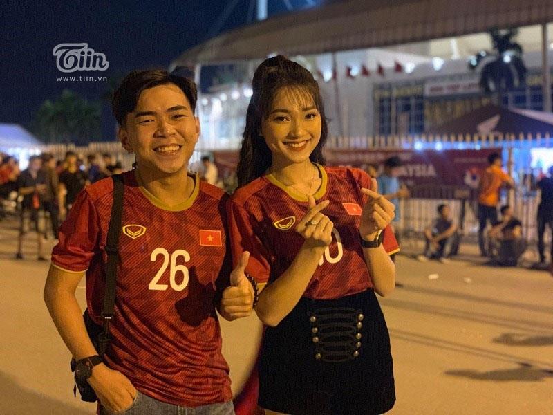 Cả hai nở vô cùng phấn khích trước trận đấu