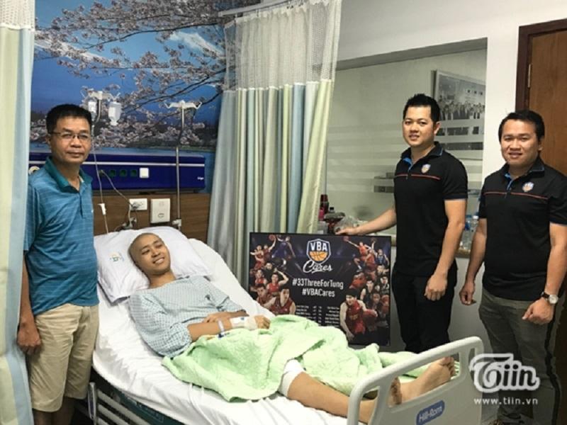 VBA 2019 đã tổ chức chiến dịch quyên góp tiền trợ giúp Thanh Tùngtừ những cú ném 3 của các cầu thủ