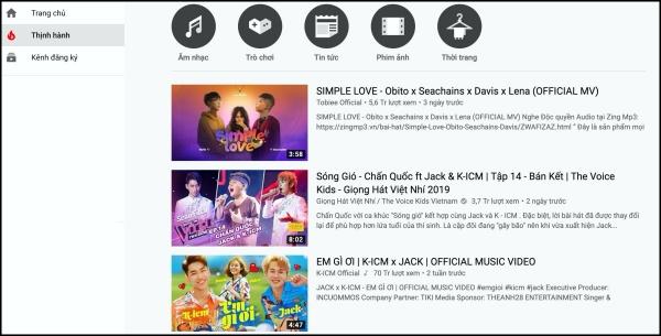 MVEm gì ơihiện đang ở top 3 trending Youtube.