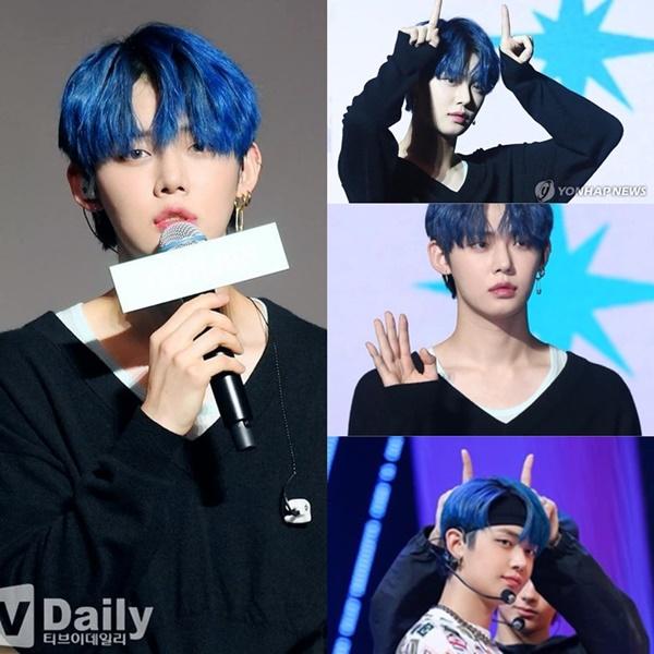 Người hâm mộ đang đổ 'đứ đừ' với vẻ ngoài điển trai của Yeonjun (TXT) với màu nhuộm tóc đẹp mắt.