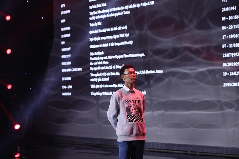 Khán giả bị choáng ngợp bởi trí nhớ siêu phàm của 'Dị nhân sử học' 14 tuổi