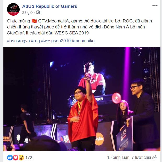 Chúc mừng game thủ Việt Nam.