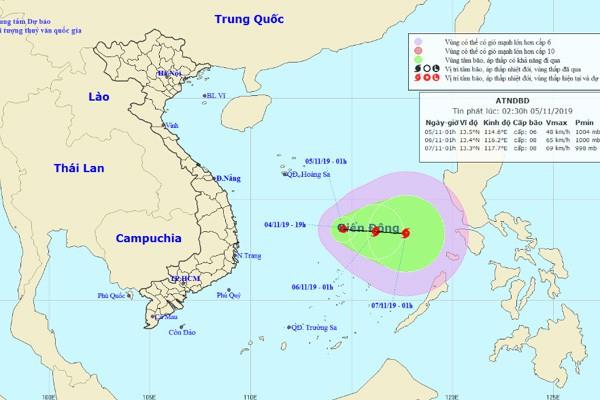Cập nhật: Áp thấp nhiệt đới giật cấp 8, có thể thành bão trên Biển Đông 0