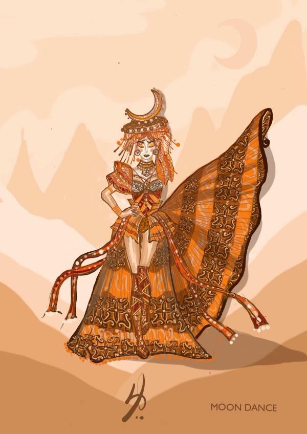Mẫu thiết kế Moon Dance mà NTK Ngô Mạnh Đông Đông dành cho Ngọc Châu.