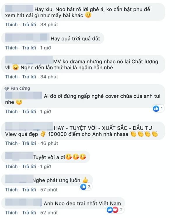 Bình luận của netizen về lần tái xuất mới nhất của Noo Phước Thịnh.