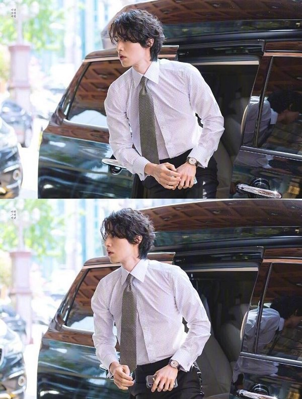 Lee Dong Wook chỉn chu trong trang phục công sở, thắt cà-vạt chỉnh tề , chỉ như vậy thôi mà hàng triệu trái tim cô gái đã rung rinh