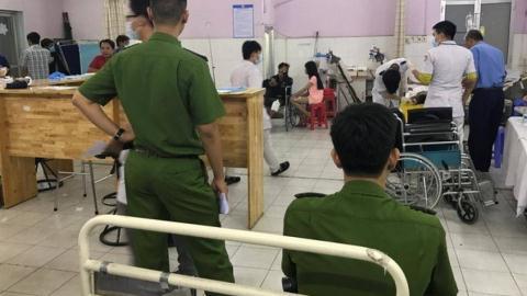 Sau 3 ngày nằm điều trị, Trung úy Tân đã tử vong tại bệnh viện