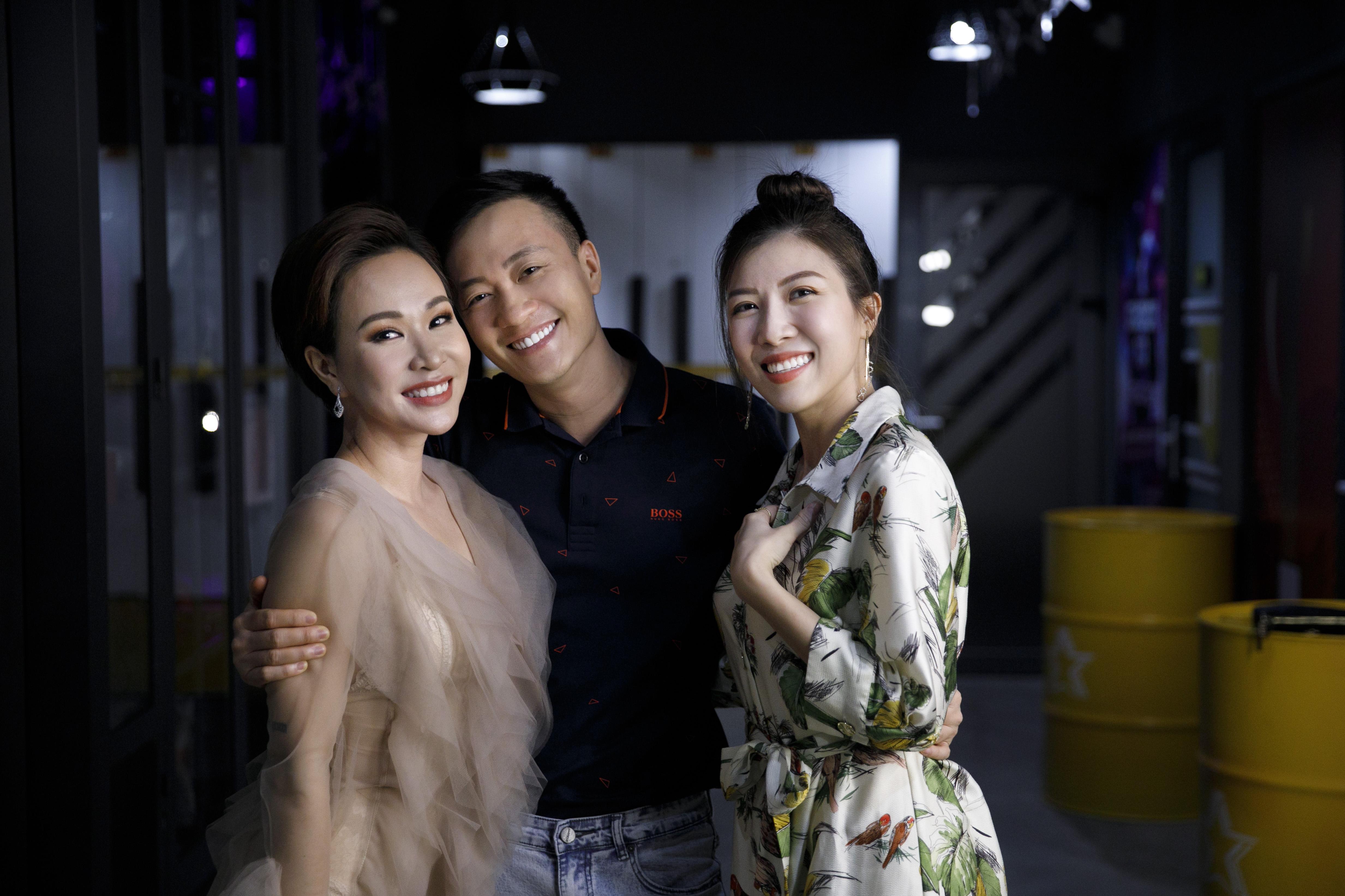 Trang Pháp và đạo diễn Lương Mạnh Hải, ca sĩ Uyên Linh