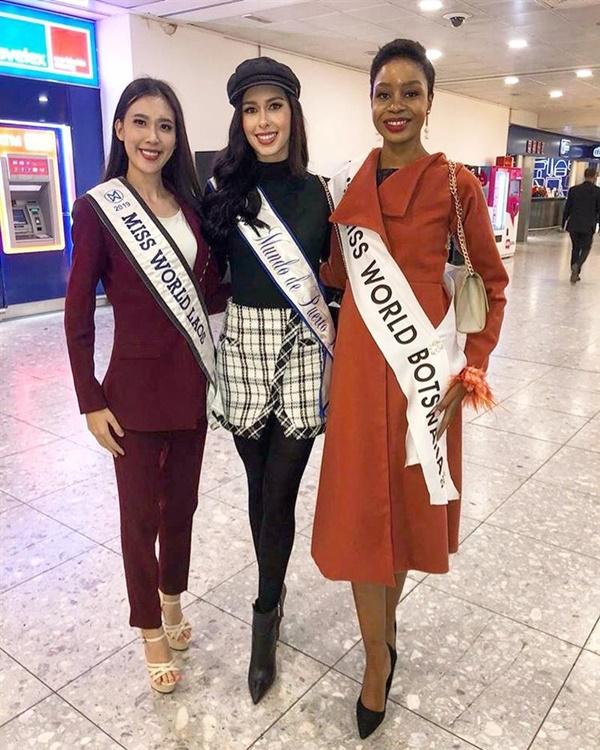 Các thí sinh của Miss World 2019 đã đến Anh, tề tựu tại nhiều sự kiện trong khuôn khổ cuộc thi.