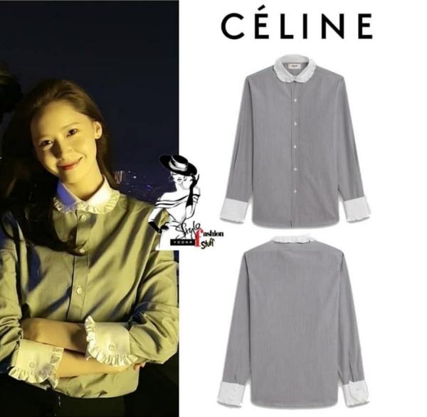 Còn nhớ khi vừa đến Việt Nam, Yoona đã được dân tình khen ngợi nức nở khi chọn trang phục thanh lịch, nữ tính lên quán bar tầng thượng của một khách sạn hạng sang tại Hà Nội để thư giãn đôi chút. Chiếc áo mà cô nàng diện thuộc thương hiệu Celine, giá 19,4 triệu đồng.