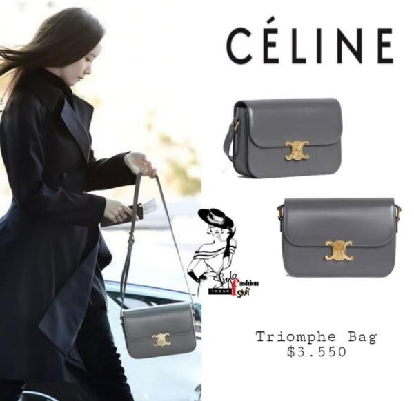 Celine là thương hiệu được Yoona tận dụng trong chuyến 'vi hành' đến Việt Nam, cô nàng đã xuất hiện tại sân bay Hàn vào ngày 25/11 với chiếc túi xách nhỏ xinh từ thương hiệu này (~ 82,3 triệu đồng).