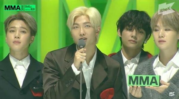 BTS được xướng tên cho toàn bộ Daesang củaMelon Music Awards 2019. Nhóm trở thành nghệ sĩ đầu tiên all-kill Daesang trong lịch sử lễ trao giải tầm cỡ này. Một kết quả xứng đáng cho cả năm làm việc không ngơi nghỉ của BTS!