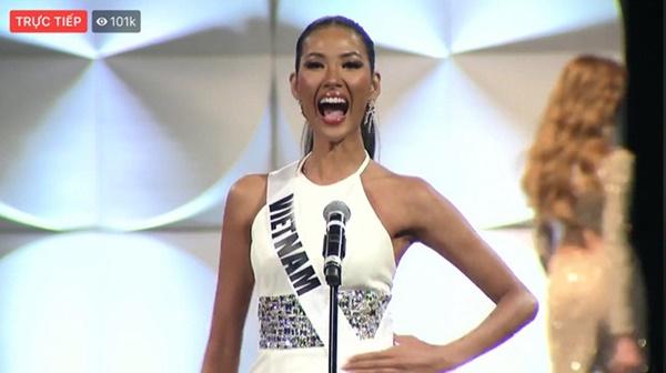 Bán kết Miss Universe 2019: Hoàng Thùy hô to hai tiếng 'Việt Nam', tự tin catwalkđầy điêu luyện giữa dàn thí sinh 'vồ ếch' trên sân khấu 0