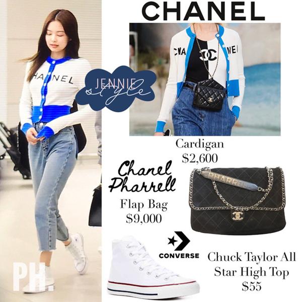Jennie là fan đích thực của giày Converse.