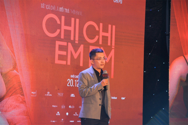 Nhà sản xuất Will Vũ chia sẻ về vai diễn của Chi Pu trong bộ phim Chị Chị Em Em trong buổi công chiếu - Ảnh: Muse Films
