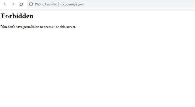 Người dùng không thể truy cập vào website công ty ICM