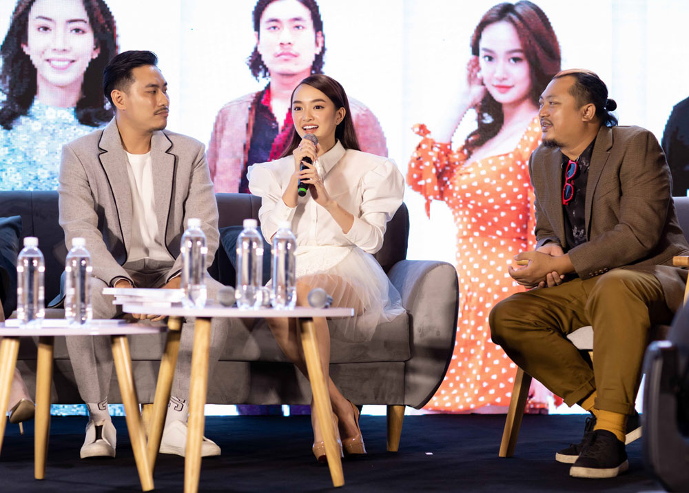 Tái xuất cùng 'papa' Thái Hoà và 'trai hư' Kiều Minh Tuấn, Kaity Nguyễn quyết tâm 'phá đảo' phòng vé vào năm sau 0