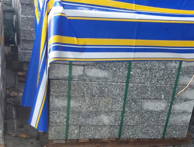 Lô đá granite có giấu ma tuý - Ảnh: VnExpress