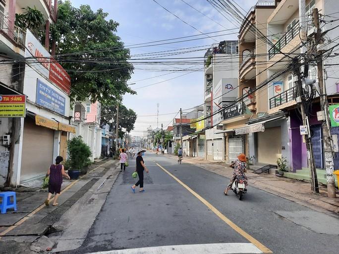 Khu vực đường Hồ Văn Đại đang bị cách ly sáng 14-8