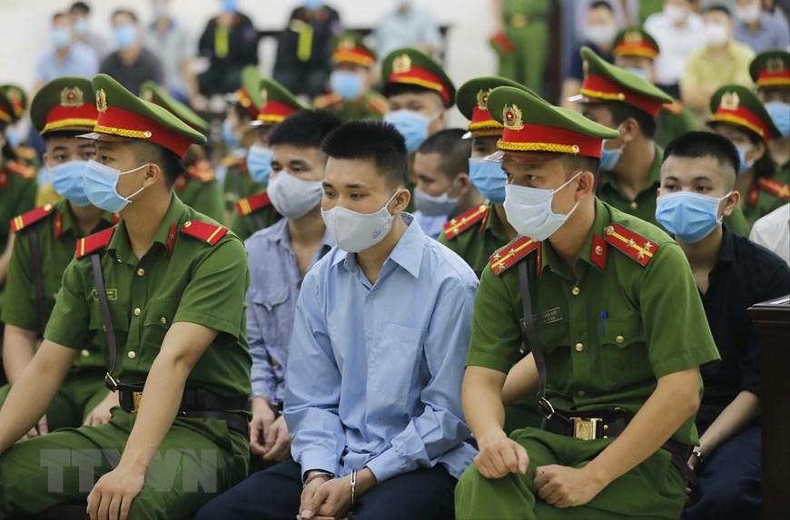 Hình ảnh phiên tòa xét xử sơ thẩm vụ án tại xã Đồng Tâm 0