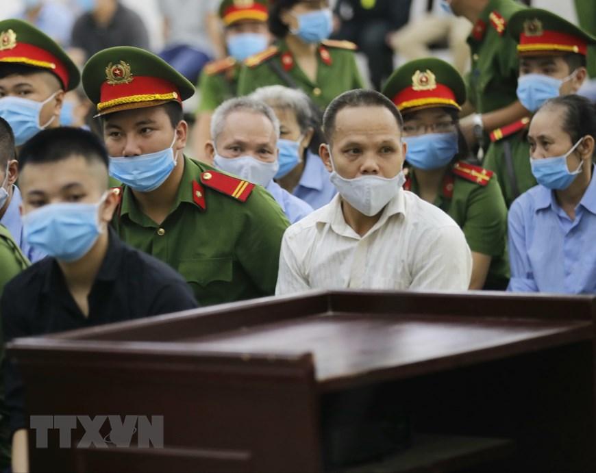 Hình ảnh phiên tòa xét xử sơ thẩm vụ án tại xã Đồng Tâm 2