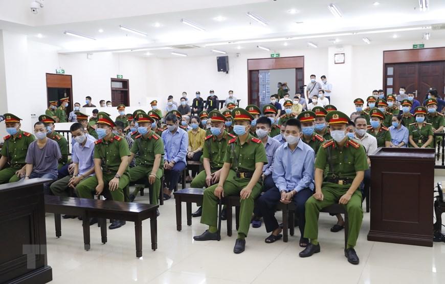 Hình ảnh phiên tòa xét xử sơ thẩm vụ án tại xã Đồng Tâm 1
