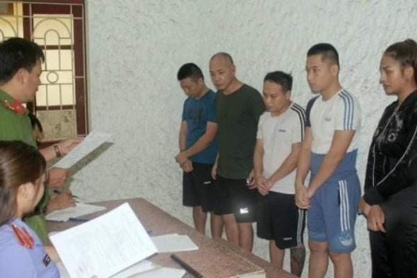 Dũng 'trọc' cùng các đồng phạm bị bắt giữ (ảnh TL)