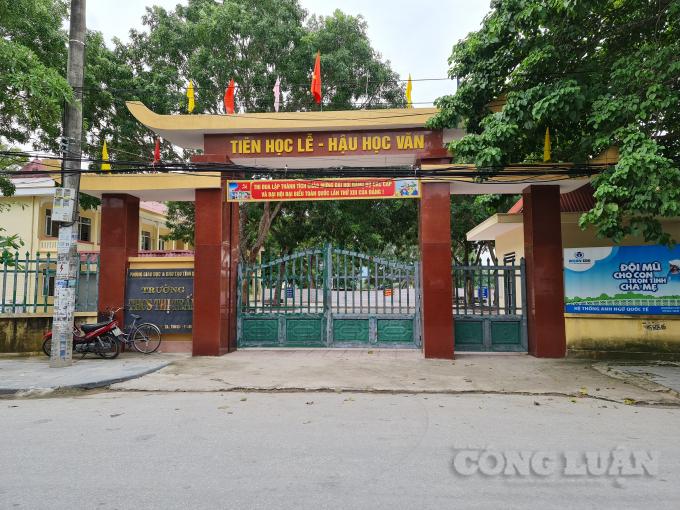 Trường THCS thị trấn Nghi Sơn nơi xảy ra sự việc đau lòng trên