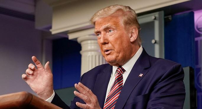 Tổng thống Trump trong cuộc họp báo hôm 27-9. Ảnh: Reuters