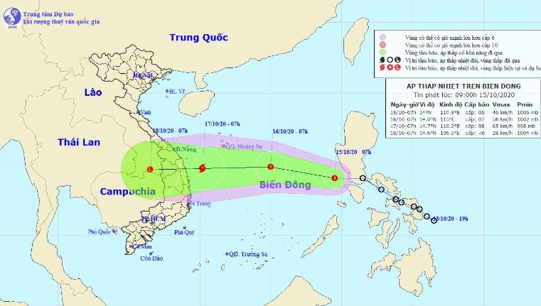 Áp thấp nhiệt đới khả năng mạnh thành bão số 8, hướng vào miền Trung 0