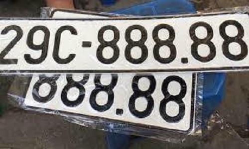 Biển số xe có 5 chữ số giống nhau. Ảnh minh họa