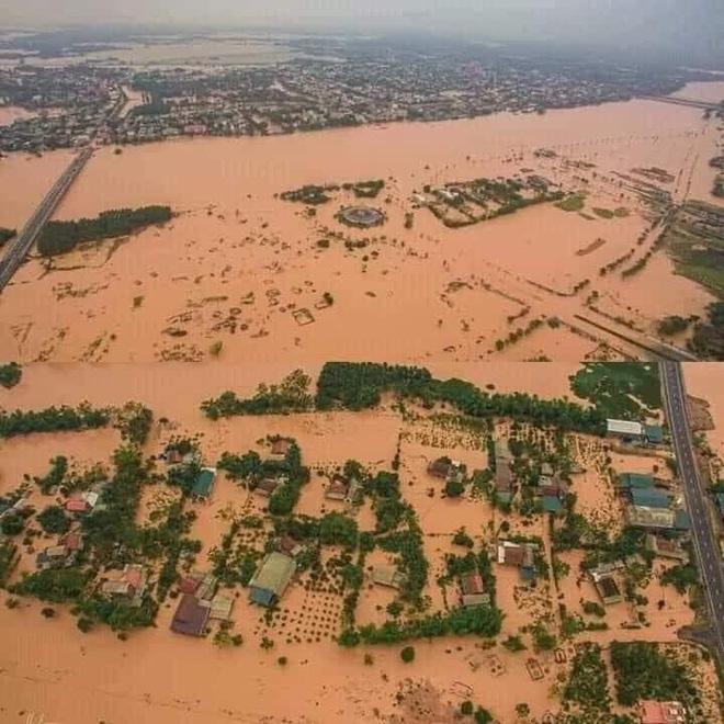 Nước lũ dâng cao, nhấn chìm nhiều ngôi nhà