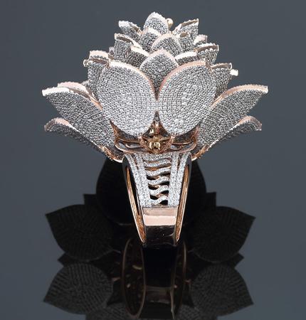 Cận cảnh chiếc nhẫn đính nhiều kim cương nhất thế giới 2