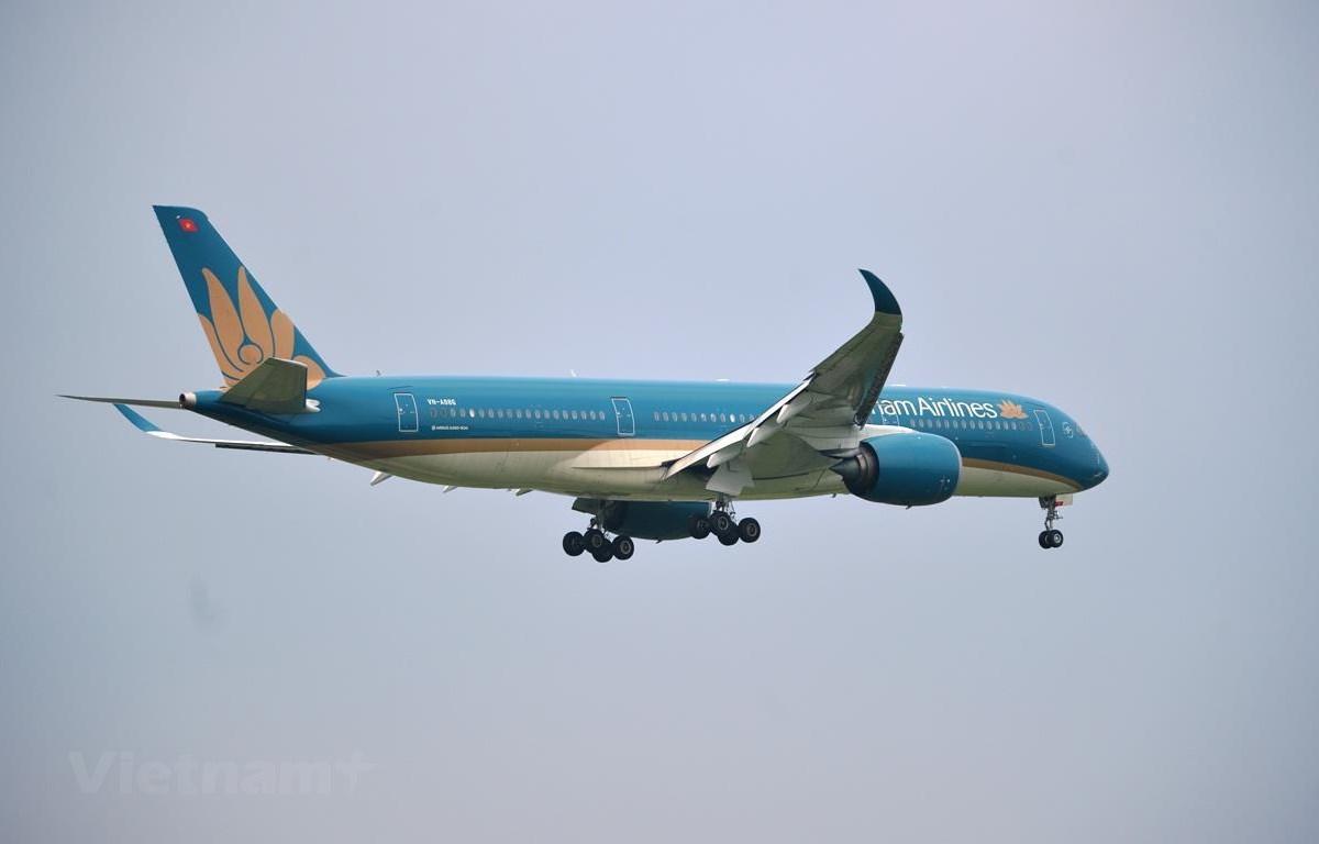 Vietnam Airlines sẽ điều chỉnh khai thác các chuyến bay tới khu vực Trung Bộ do ảnh hưởng của bão số 9. (Ảnh: CTV/Vietnam+)