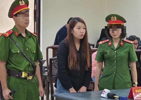 Bị cáo Thu tại phiên toà (ảnh tư liệu)
