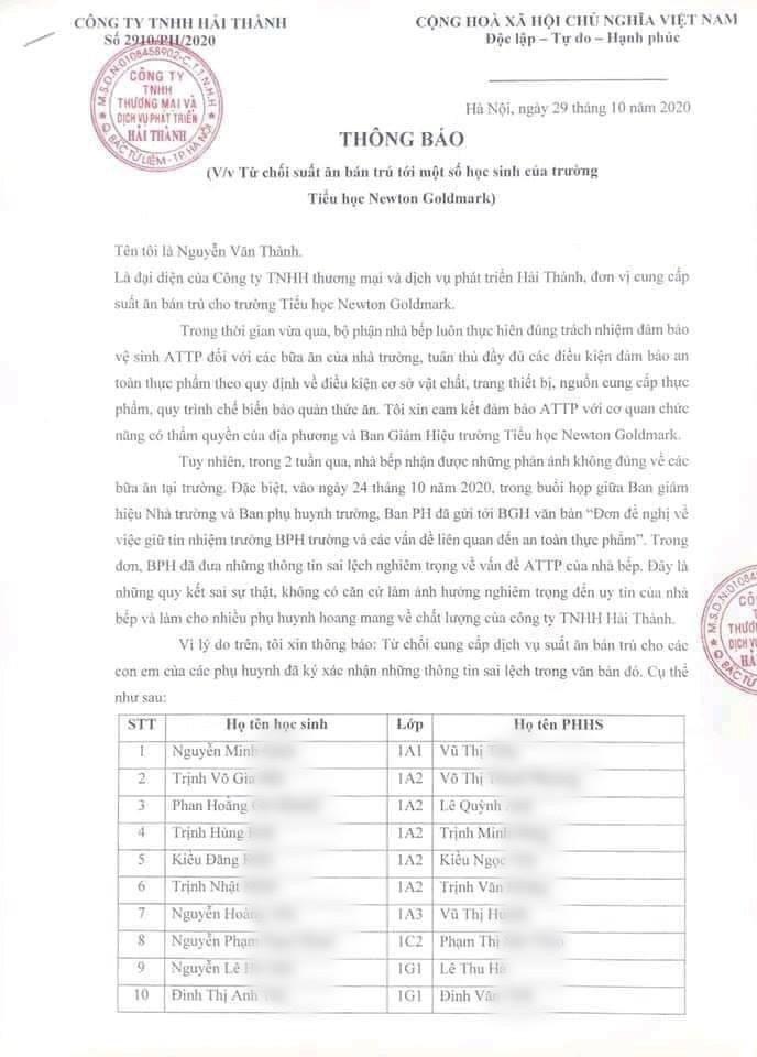 Xôn xao 39 học sinh tiểu học bị từ chối phục vụ ăn bán trú vì bố mẹ có ý kiến về 'chất lượng thực phẩm khiến nhiều học sinh bị đau bụng thời gian dài' 4