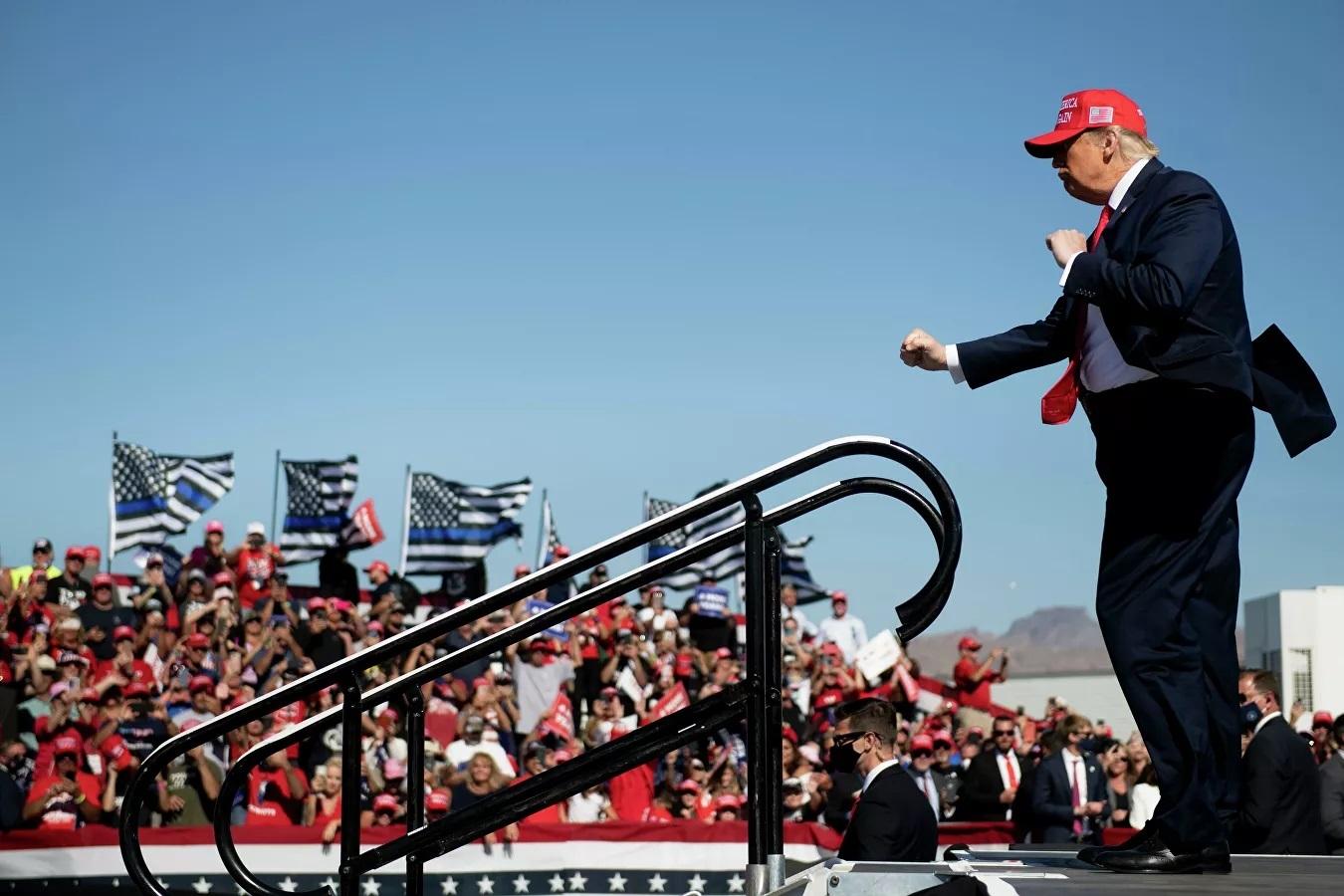 Tổng thống Mỹ Donald Trump trong một cuộc vận động tranh cử ở Arizona.